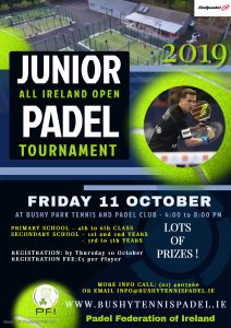 ALL IRELAND JUNIOR OPEN 2019