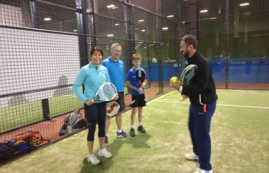 Top class clinic at the Eddie Irvine Padel Centre in Bangor