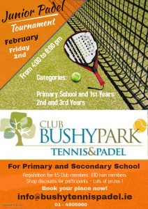 Junior Padel 2 February 2018