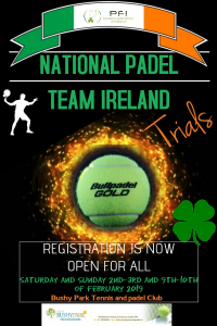 National padel team poster trials