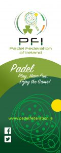 ROLL UP PADEL FEDERATION INSTITUTIONAL baja