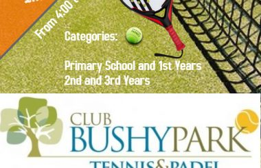 Junior Padel Tournament for Primary School and 1st, 2nd and 3rd Year Secondary School
