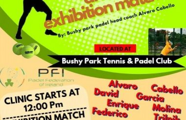 Padel Clinic and Exhibition Match in Bushy Park