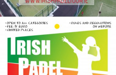 Irish Padel Tour Bushy Park Draw